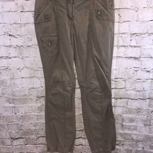H&M Green Jogger Pants W/Back Ankle Zipper